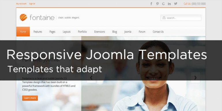 15 Responsive Design Joomla Templates