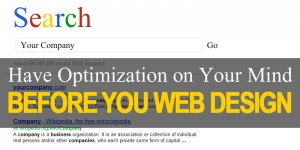 Optimization Before Web Design