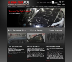 Pro-Tect Film Website Redesign