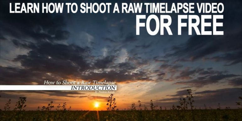 Learn How To Shoot a RAW Timelapse Video for Free