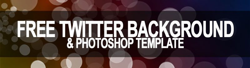 Free Twitter Background with Photoshop Template