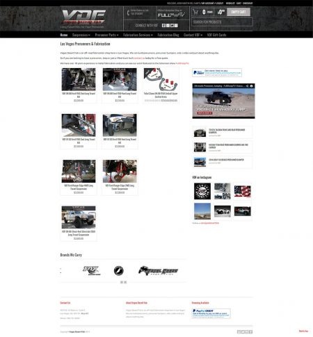 eCommerce Web Design for Vegas Dezert Fab