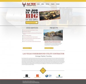 utility construction company web design