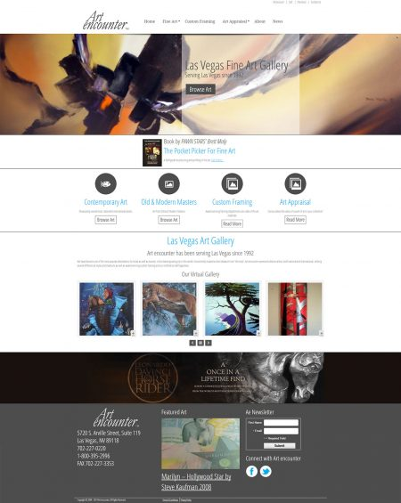 Art encounter eCommerce Web Design