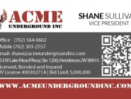 Acme Underground Business Card