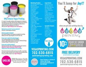 Las Vegas Printing brochure