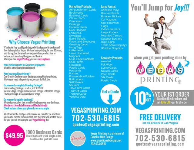 Las Vegas Printing Tri-fold Brochure Design