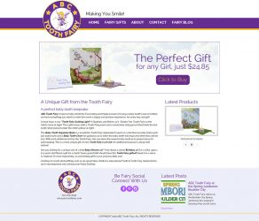 New Web Design – ABC Tooth Fairy