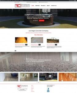Ryerson Concrete Web Design