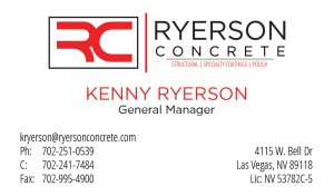 Ryerson Concrete Business Card