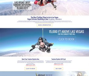 Las Vegas Skydiving Website Redesign