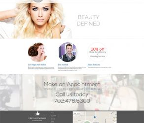 Las Vegas Hair Salon Website Redesign