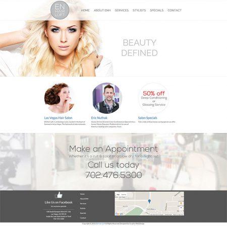 Las Vegas Hair Salon Website Redesign